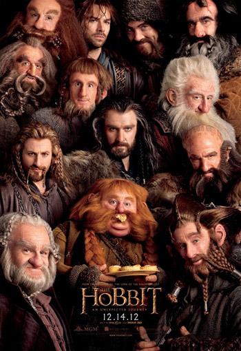 Les 13 nains, dans le désordre, Thorin, Balin, Dwalin, Fili, Kili, Dori, Nori, Ori, Oin, Gloin, Bifur, Bofur et Bombur