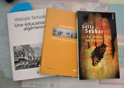 Trois livres d'auteures du Maghreb