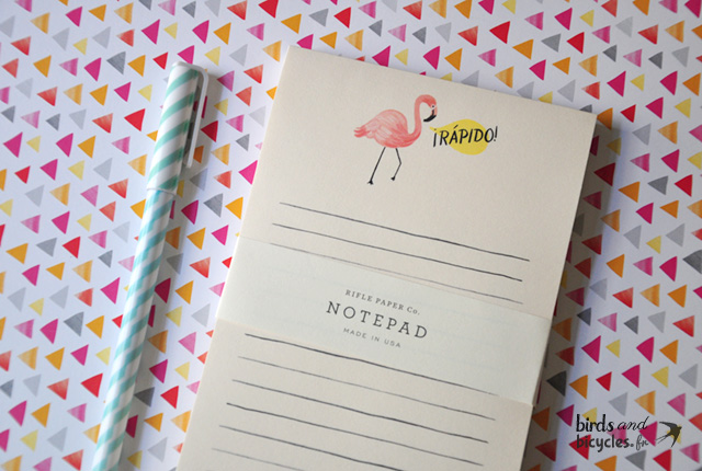 Bloc-notes to do list Flamant Rose de Rifle Paper Co