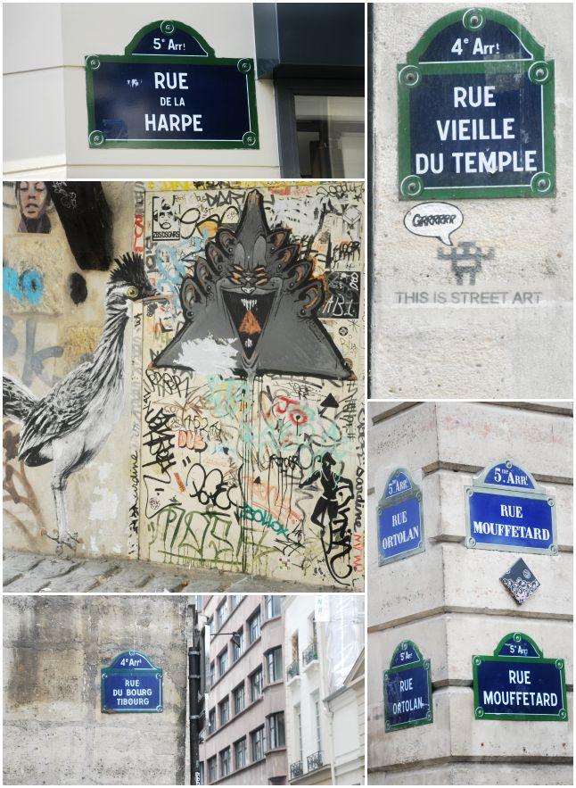 Noms de rues Paris