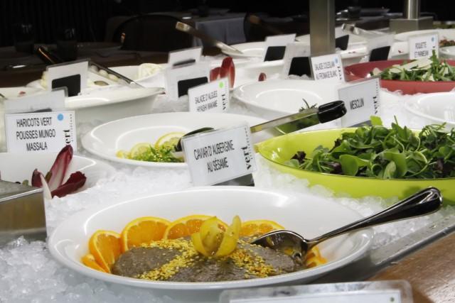 Le restaurant végétarien Vert Attitude, proche du jet d'eau!