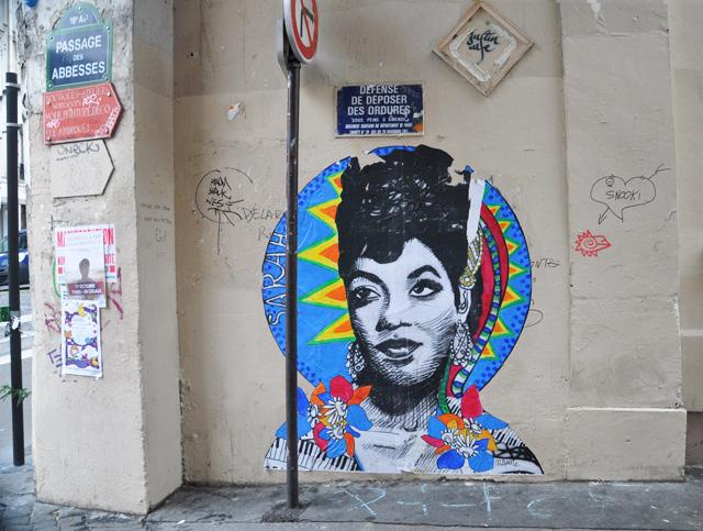 Street art - collage à Paris