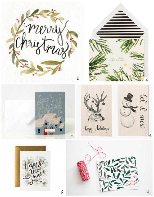 Une sélection de jolies cartes de Noël...