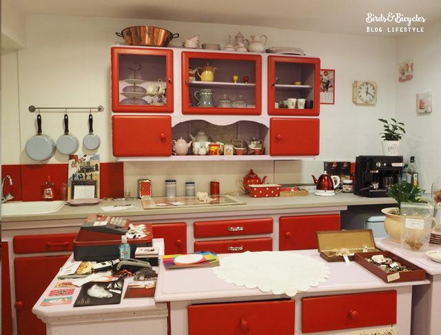 La magnifique cuisine rétro de la boutique Rétro Addict à Saverne! Pin up & fringues vintage en Alsace