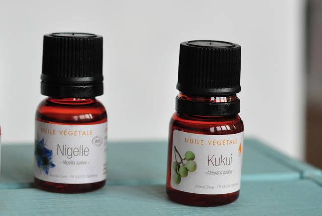 Mes huiles végétales de chez Aroma-Zone