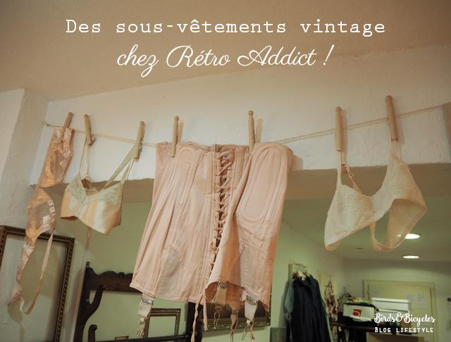 Sous-vêtements rétro dans une friperie en Alsace - bonne adresse sur le blog lifestyle birds & bicycles