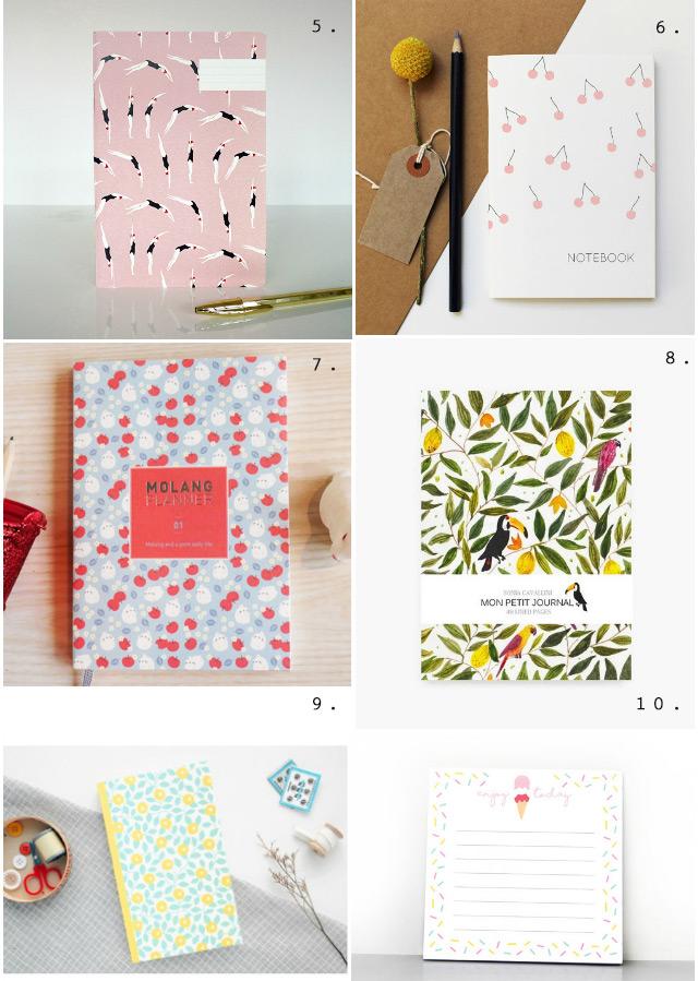 Papeterie: sélection de jolis carnets fruités