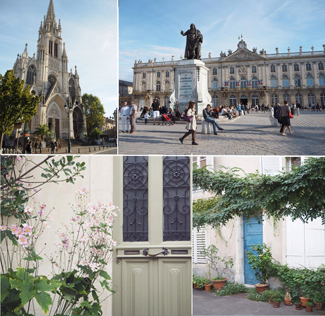 La jolie ville de Nancy en Lorraine: Place Stanislas, Eglise Saint-Epvre et portes dans le centre historique
