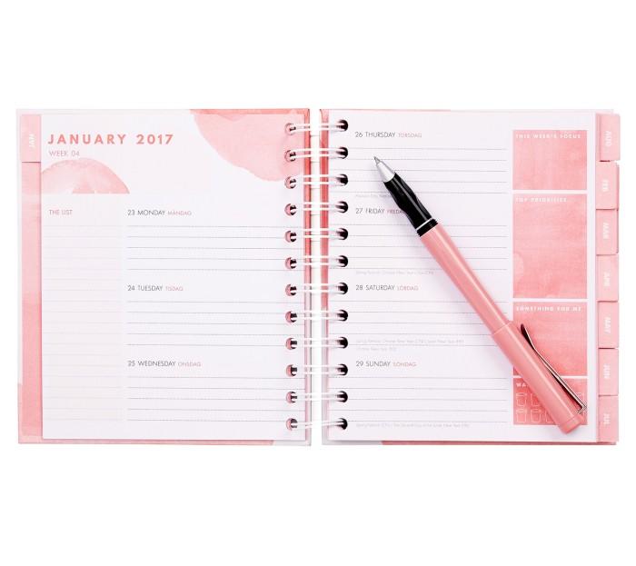 Joli agenda 2017 par la marque de papeterie Kikki K