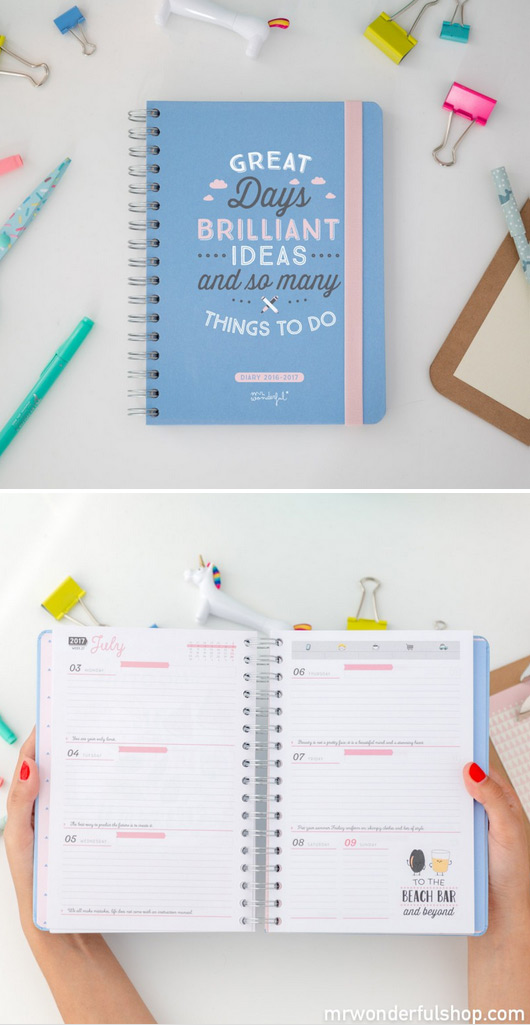 agenda 2017 favori chez Mr Wonderful