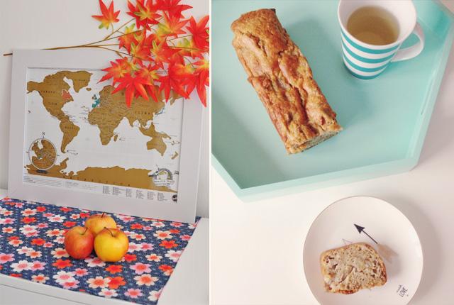 carte du monde à gratter et petit déjeuner