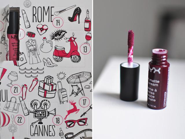 Avis sur le calendrier de maquillage NYX 2016