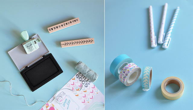 DIY & Papeterie - Masking tapes et tampons encreurs - blog lifestyle Birds & Bicycles