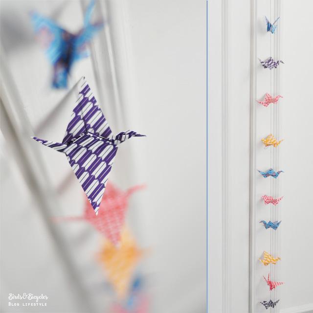 Ma guirlande de grues en origami