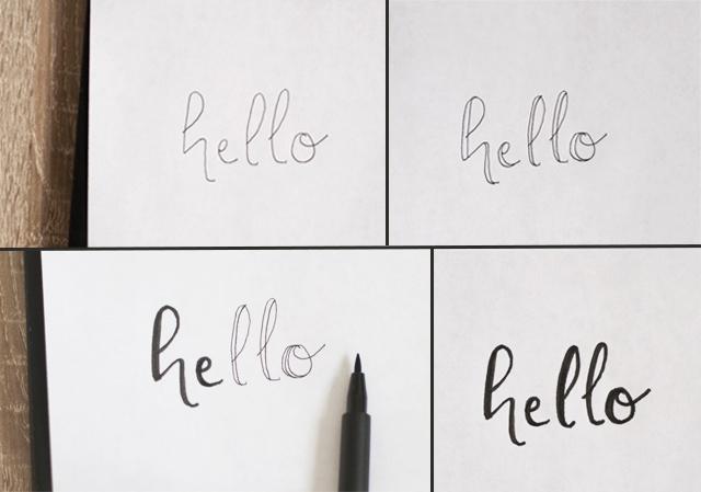 Apprendre le lettering: la méthode trichée mais facile! Faux lettering mode d emploi démo