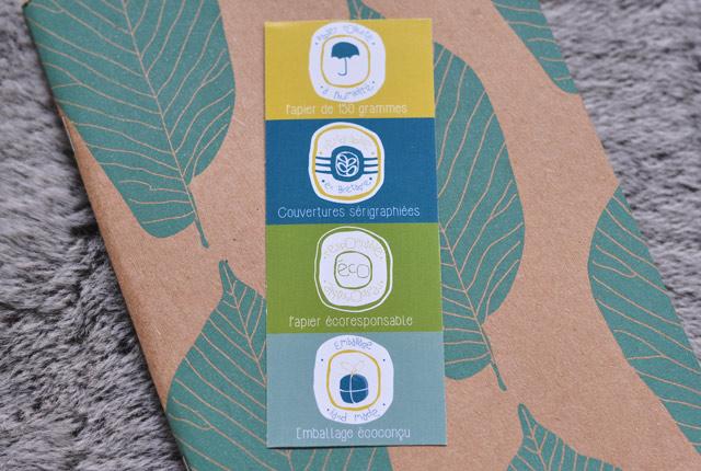 Carnets feuille de Noé Paper, créateurs français de papeterie éco-responsable