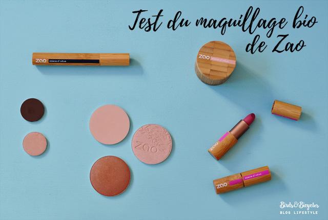 Revue de maquillage bio de Zao: fonds de teint, mascara, fards à paupières et rouges à lèvres à la compo naturelle!