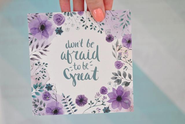Jolie carte florale (Nuoo box)