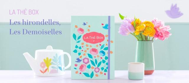 La thé box hirondelles demoiselles dessinée par Minilabo