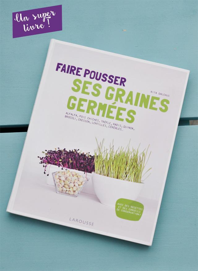 Le livre faire pousser ses graines germees