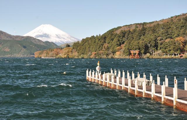 Le Mont Fuji vu depuis Hakone-machi