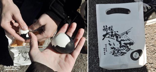 Des oeufs noirs, uen bizarrerie à goûter au Japon! Blog voyage Birds & Bicycles