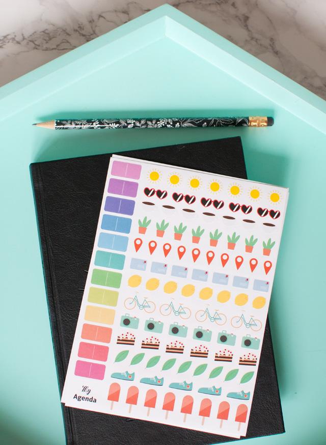 Les jolis autocollants de My Agenda pour mettre des couleurs dans son semainier