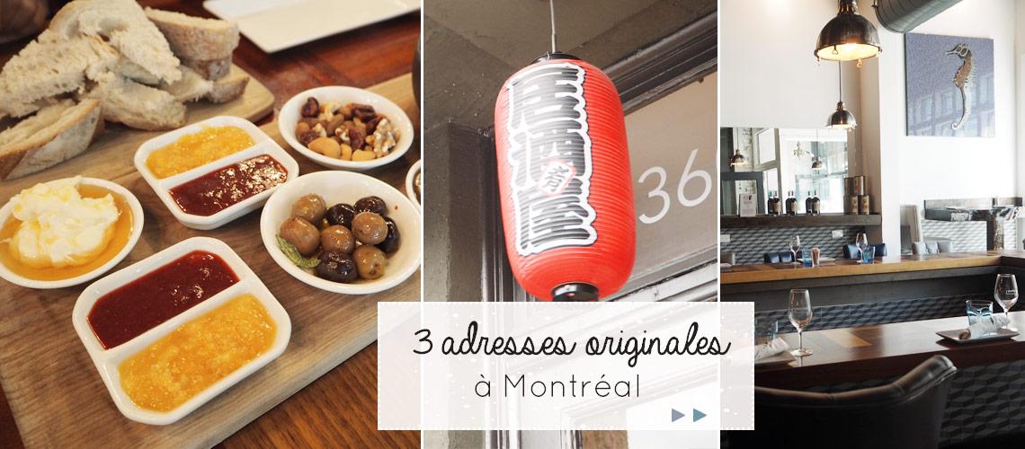 Bonnes adresses: 3 restaurants insolites à Montréal