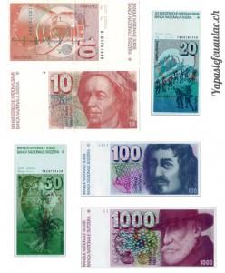 anciens billets suisses