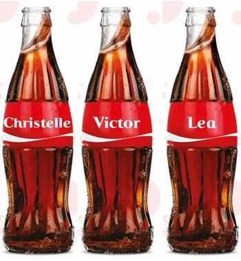 Cocacola prénoms suisse
