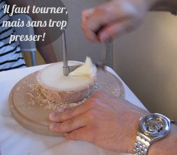 girolle tete de moine fromage