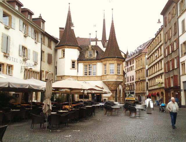Place du Marché à Neuchâtel