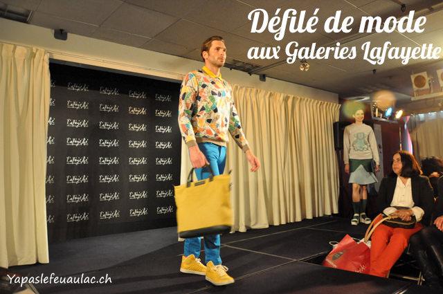 Défilé de mode aux Galeries LAfayette