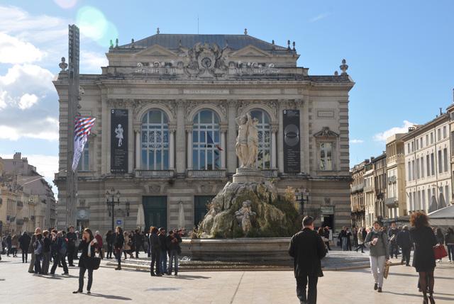 L'hiver à Montpellier, Place de la Comédie