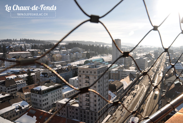 La Chaux de Fonds - depuis la tour de l'Espace Cité