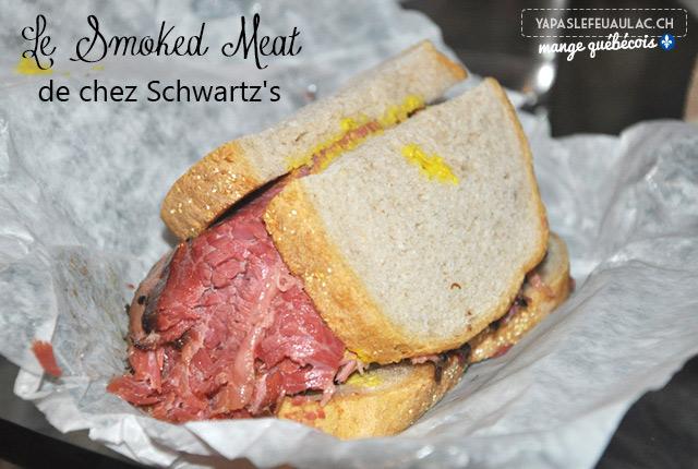 Sandwich au Smoked Meat de chez Schwartz - Montréal