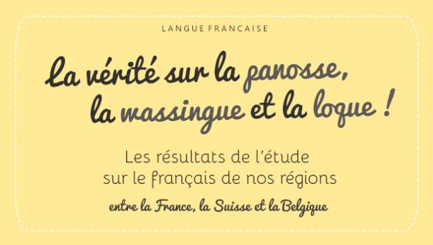 Une étude sur les mots suisses, mots belges et mots des régions françaises