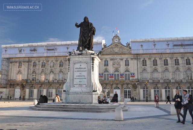 La statue de Stanislas à Nancy