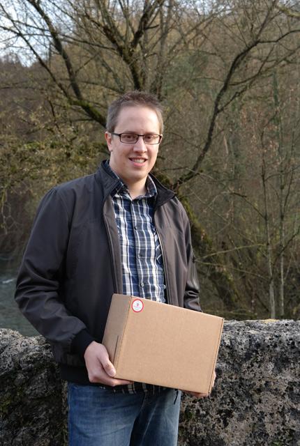 Le fondateur d'Helvetibox, la box de produits suisses