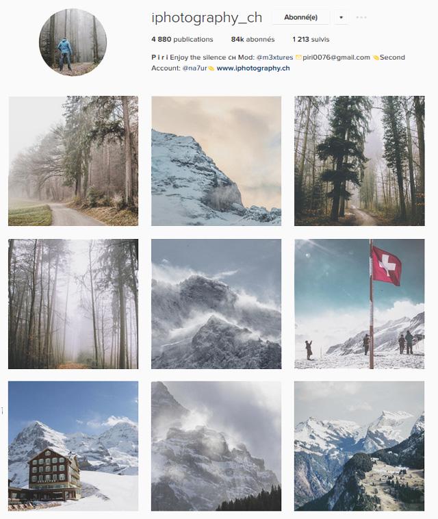 Instagrammeurs suisses à suivre