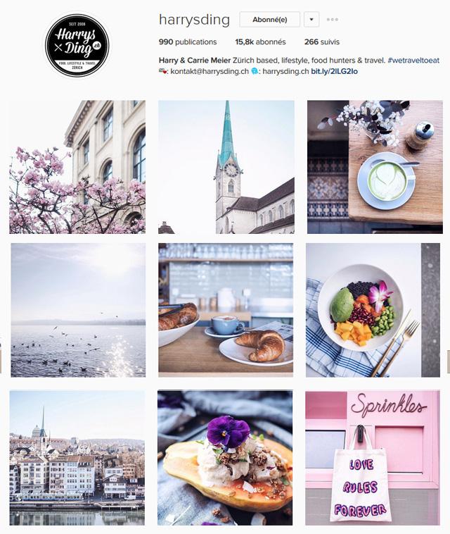 instagrammeurs suisses à suivre - harrysding