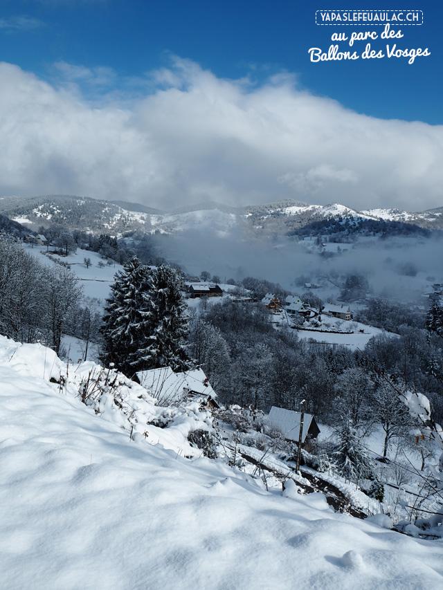 En hiver au Parc des Ballons des Vosges