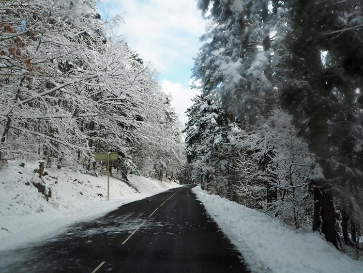 Les routes des Vosges en hiver