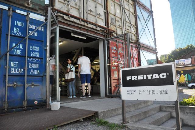 La boutique de la marque suisse Freitag à Zurich