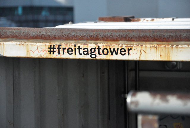 Freitag Tower: the visit