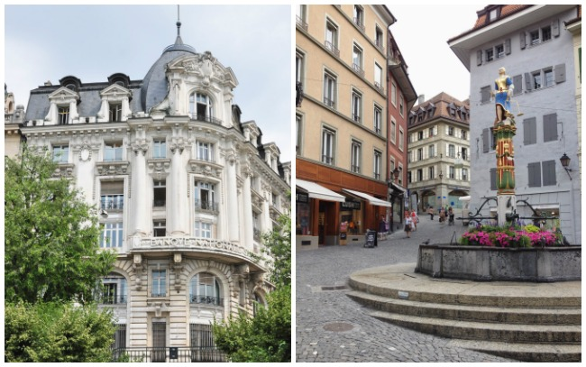 Photos des rues de Lausanne