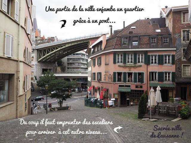Les différents niveaux de Lausanne, ville suisse à l'urbanisme particulier