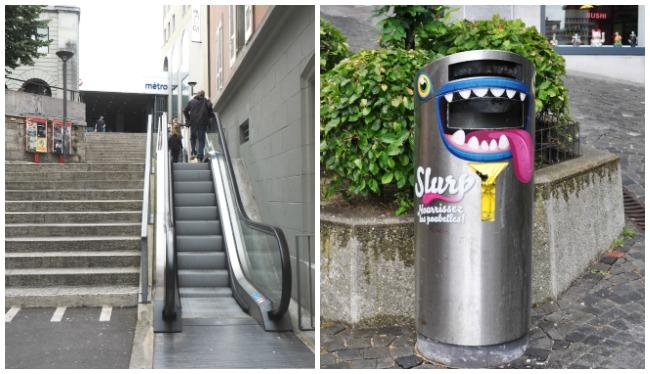 Les poubelles de Lausanne