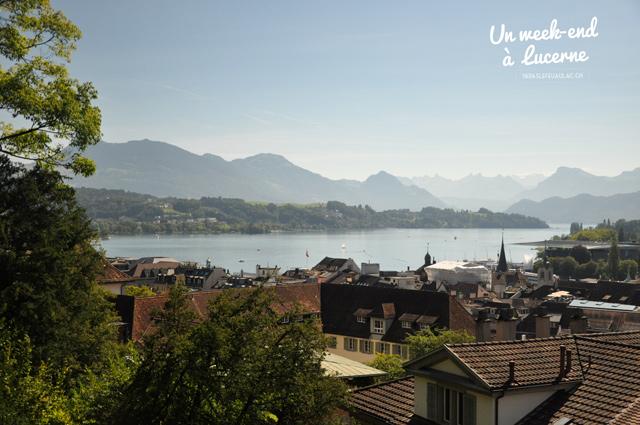 Vue sur le lac des quatre cantons depuis Lucerne