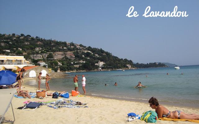 Plage du Lavandou sur la cote d'Azur